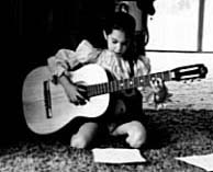 a very young Jody starting on the guitar